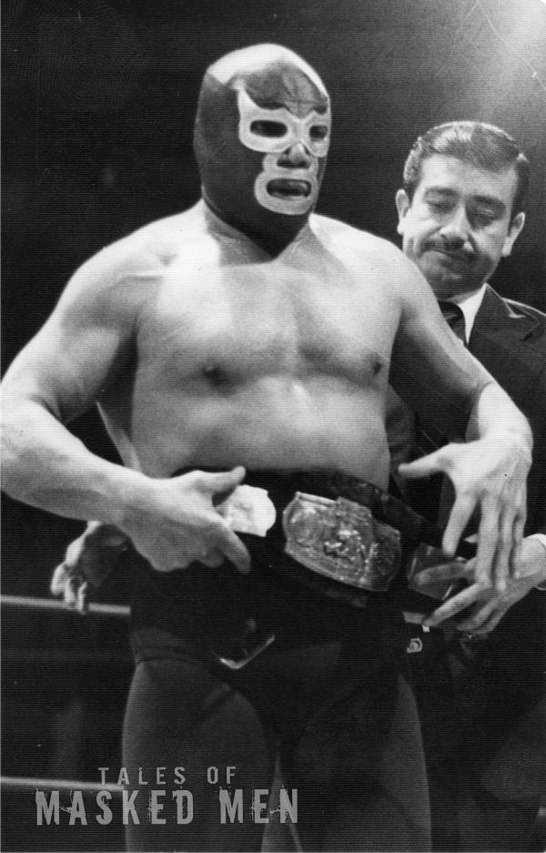 Blue Demon with belt